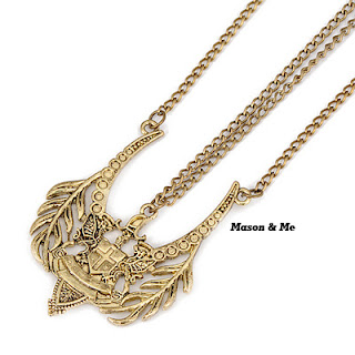 Kalung LeaF Cross Double layer