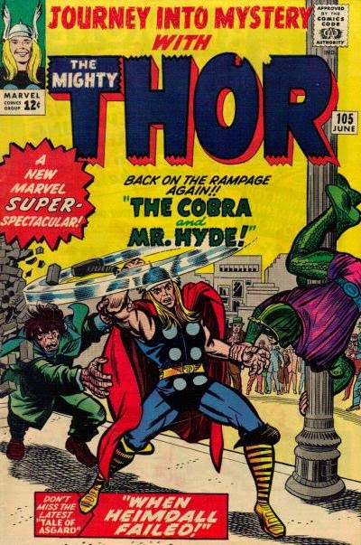 Journey into Mystery #105, Thor, the Cobra and Mr Hyde