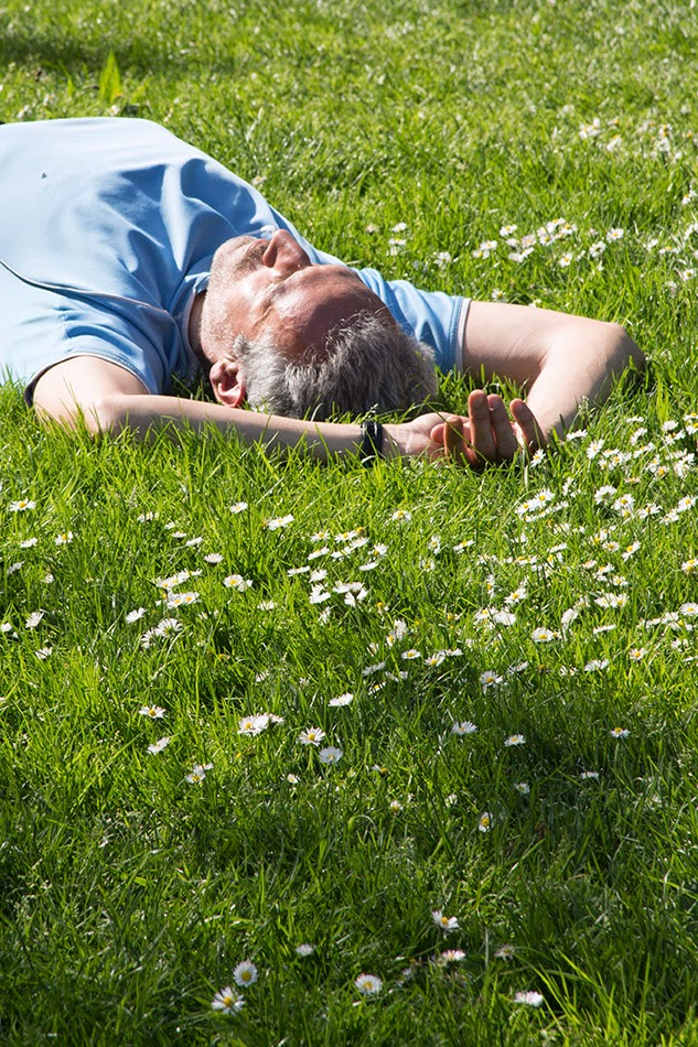 guy lying in the grass