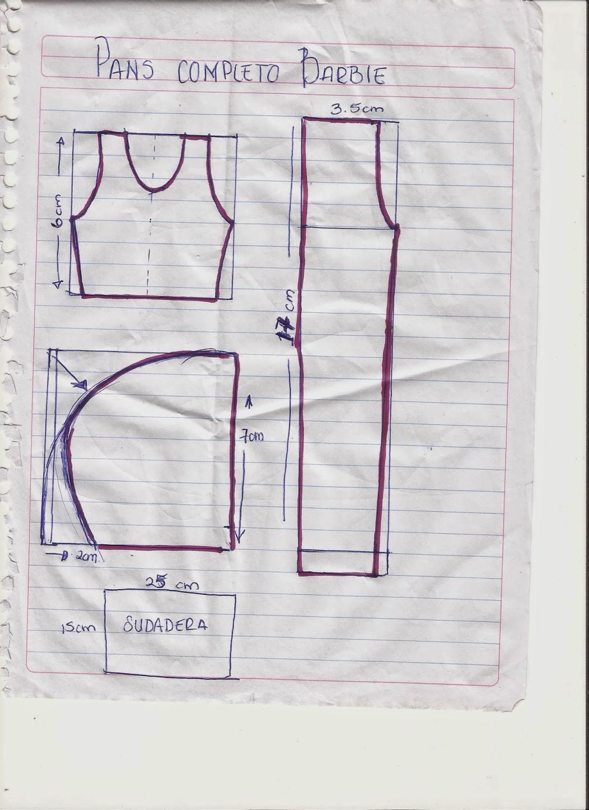 IDEAS por EDITH5866: PATRONES PARA ROPITA DE BARBIE,MONSTER HIGH Y KEN