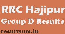 RRC Hajipur Group D Result 2015