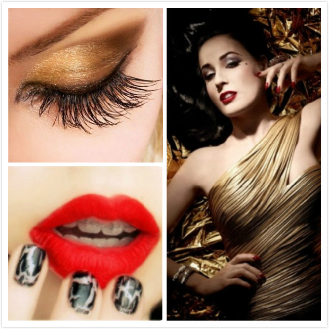 Christmas Party Makeup Ideas Part - 20: If You Feel A Little More Courageous (and If The Christmas Call Is Too Loud  To Ignore!) Go With A Deep Red Lip Instead, And Tons Of Mascara On Your  Eyes: ...