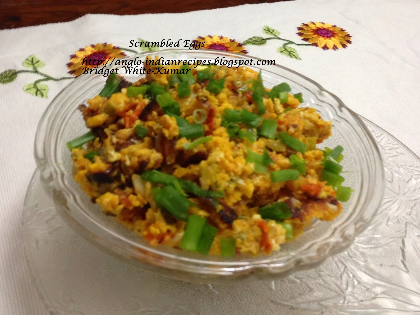Anglo indian recipes by bridget white scrambled eggs with for Anglo indian cuisine