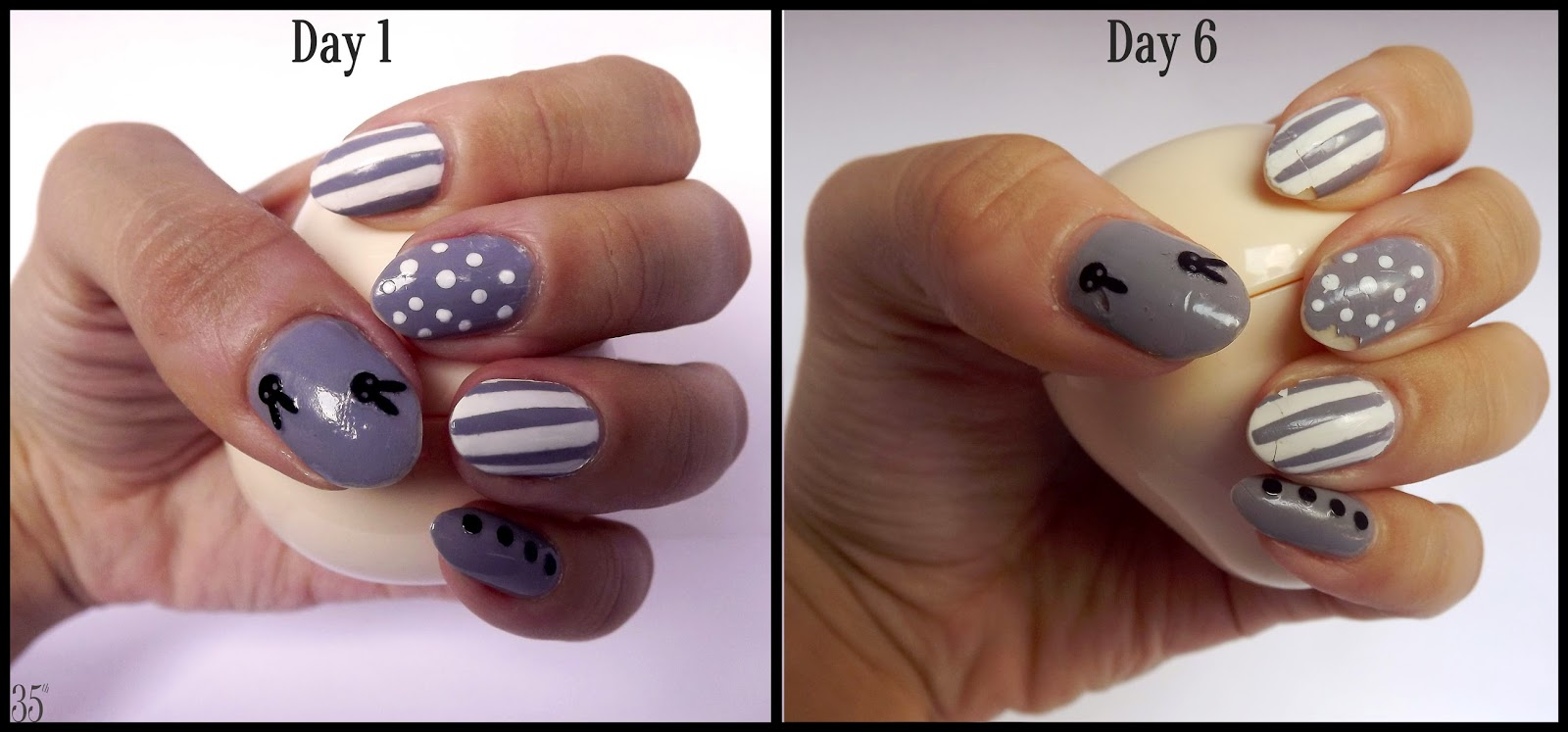 Etude House Sweet Idea Bunny Nails in #1 Dalmatian Bunny