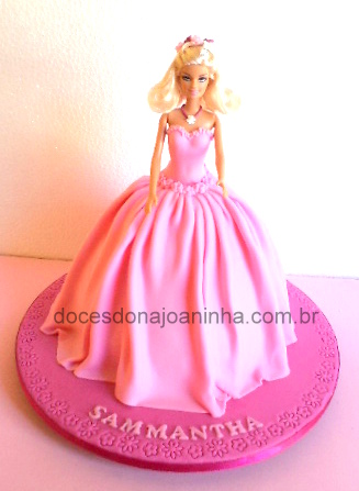 Bolo decorado Barbie Princesa Sammantha