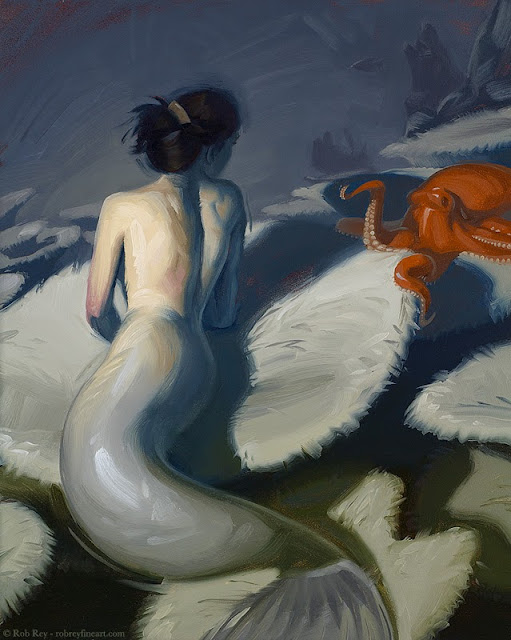 Mermaid II by Rob Rey - robreyfineart.com