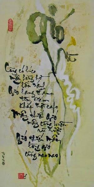 Những câu thơ viết bằng chữ thư pháp hay nhất