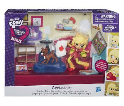 TOYS : JUGUETES - My Little Pony | Mi pequeño poni  Equestria Girls : Minis - APPLEJACK  Juegos para la fiesta de pijamas  Slumber Party Games Set  Muñeca - Figura 2016 | Hasbro B6040 | A partir de 5 años  Comprar en Amazon España & buy Amazon USA