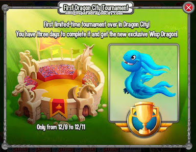 imagen del primer torneo del dragon de dragon city