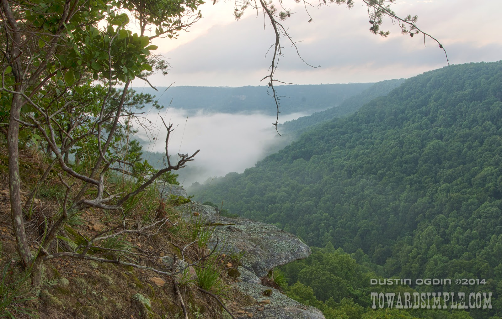 mountain mist at Big Creek Overlook TN