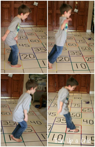 Gross Motor Activity to Practice Skip Counting