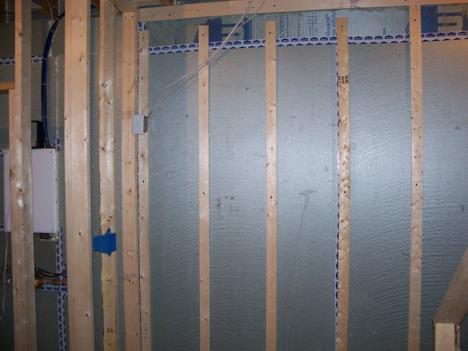 the electrical boxes are now all nailed in and 4 of the 10 recessed