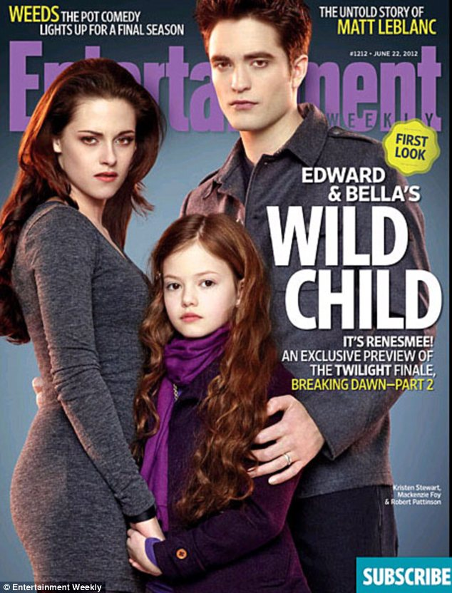 Exclusive first look at Edward, Bella and Renesmee Cullen; a vampire family portrait