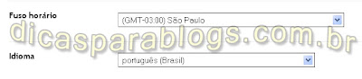 configurar idioma, data, hora no blogspot