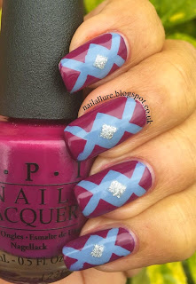 Sparitual Groove and OPI Anti Bleak Geometric Nail Art