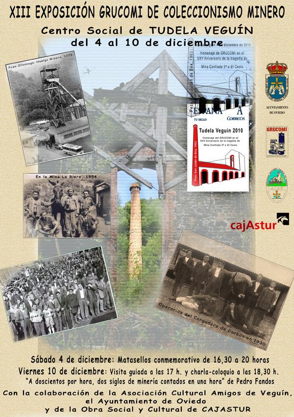 Cartel de la  XIII Exposición de Coleccionismo de Grucomi en Tudela Veguín