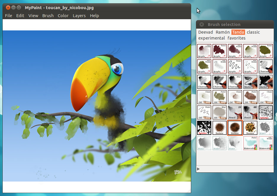 A Professional Digital Painting Software For Ubuntu Linux Mypaint