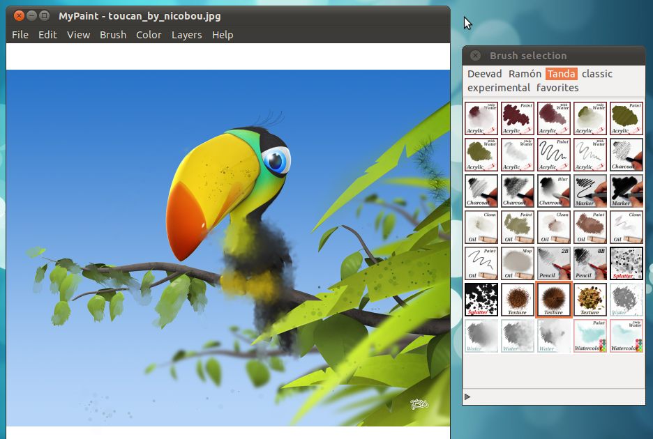 A Professional Digital Painting Software For Ubuntu Linux: paint for linux