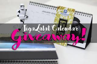 Giveaway, contest, calendar, tiga, lalat, qiya, saad
