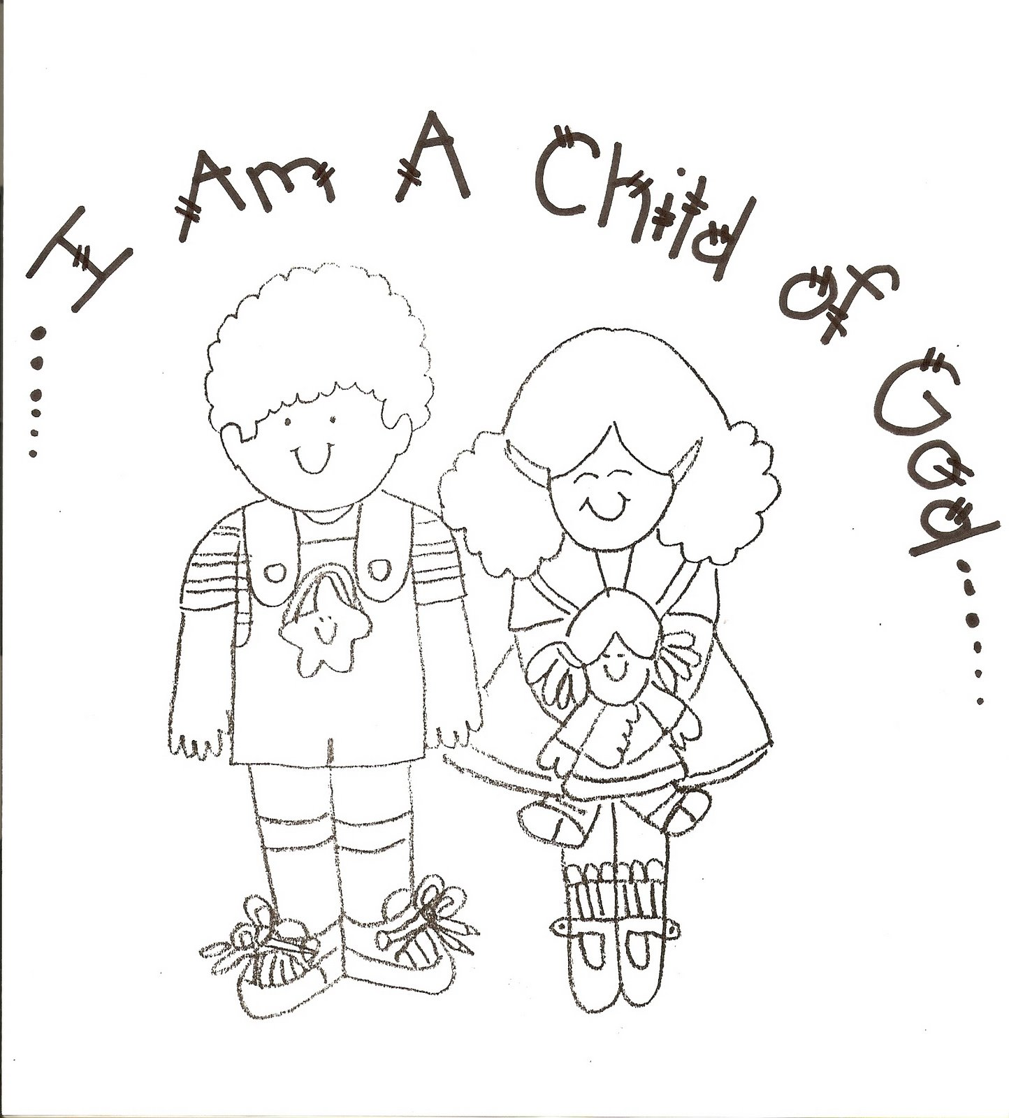 i am special coloring pages for kids - photo #47