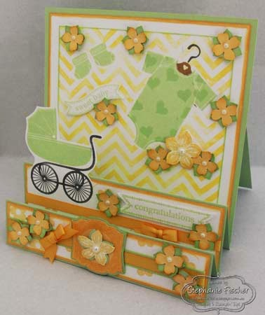 SU Something for baby, Petite Petals, Step Card, Baby Card
