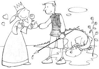 dibuixos sant jordi: