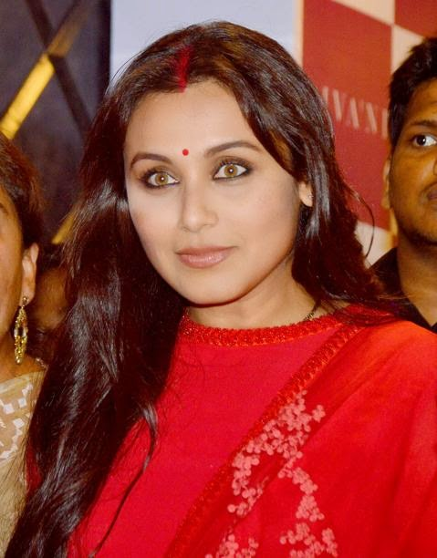 Rani Mukherji first outing after marriage in red suit