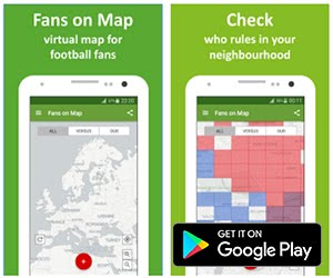 Sports App of the Month - Football Fans on Map