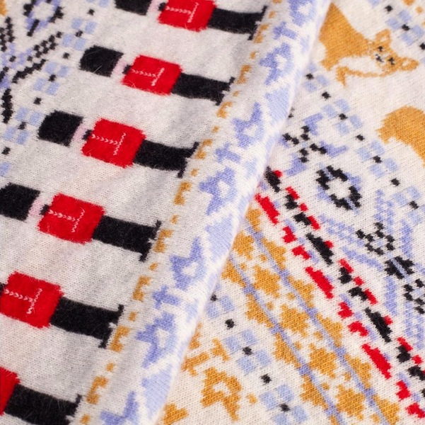 Highgrove Diamond Jubilee Baby Blanket: Fair Isle with Corgis ...