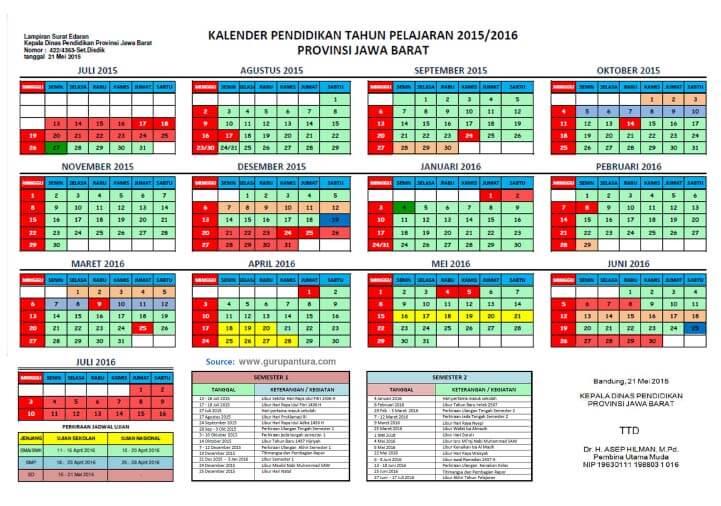 Download Kalender Pendidikan Kaldik Otomatis Seluruh Tahun Ajaran Versi Excel Pendidikan