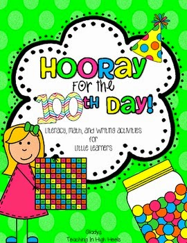 https://www.teacherspayteachers.com/Product/Hooray-for-the-100th-Day-Fun-Activities-for-Little-Learners-522504