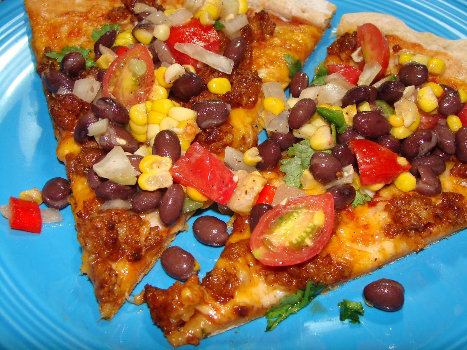 Sharon's Souvenirs: Southwestern Pizza with Black Bean and Corn Relish