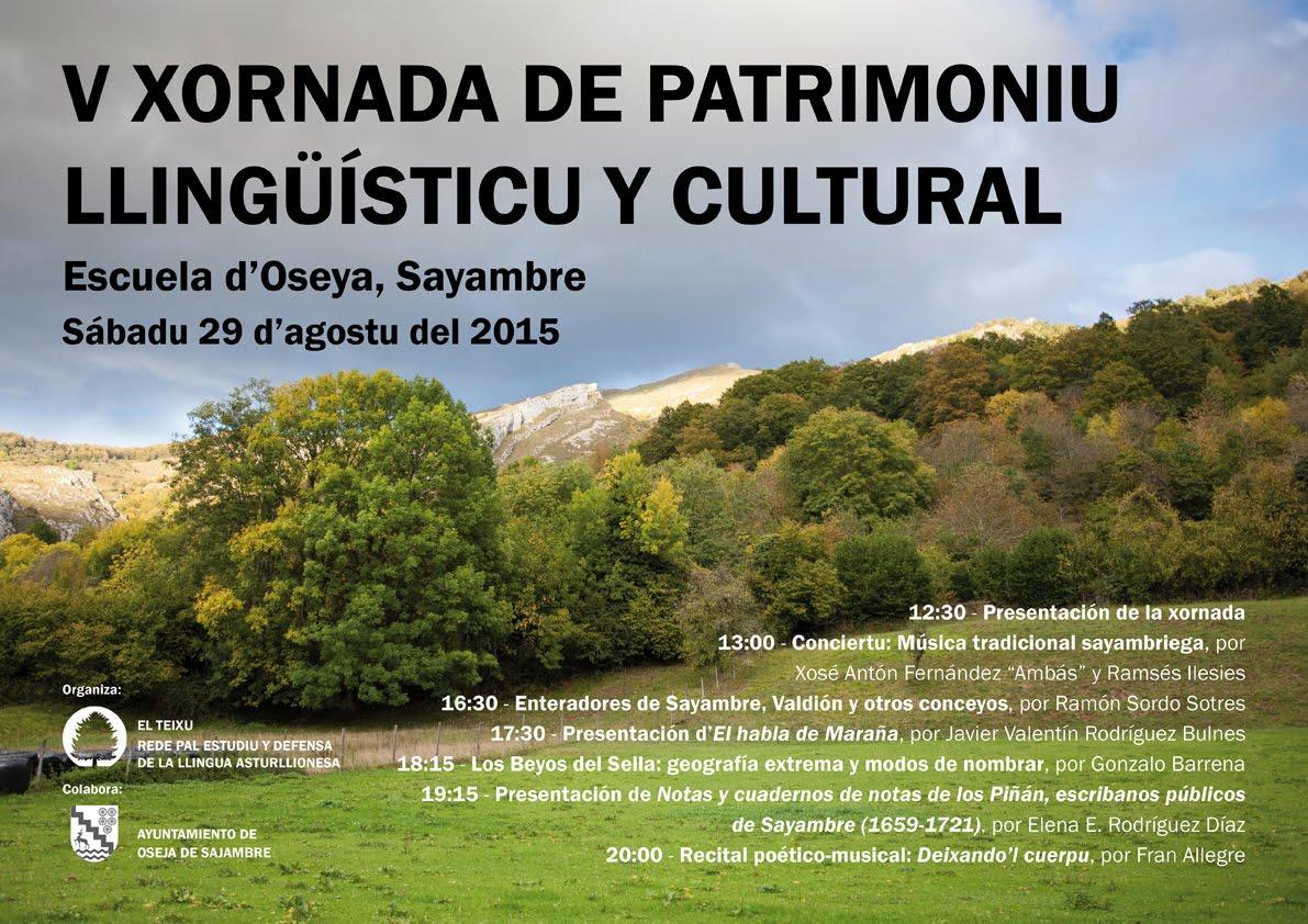 V Xornada de Patrimoniu Llingüísticu y Cultural