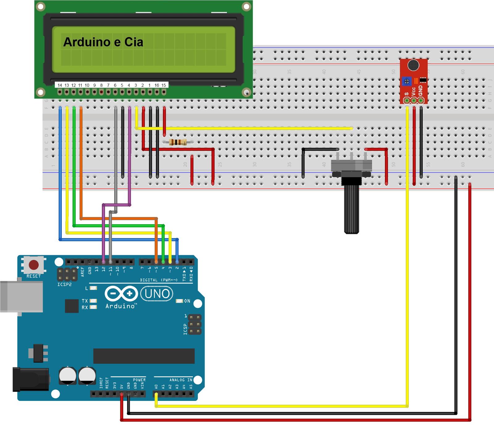 Sensor de Som Arduino - Circuito