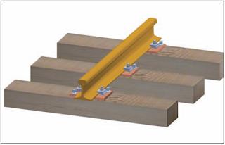pritrditev tirnice na leseni prag