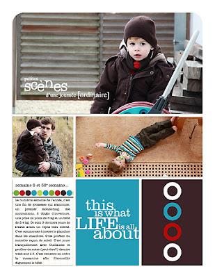 projet 52 semaines semaine 08 page de droite