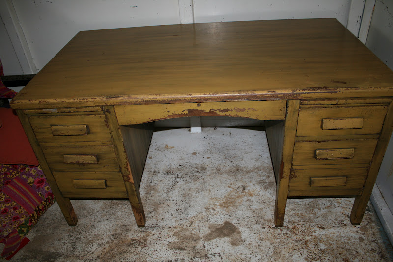 The finish was really beat up, but I love the school house look. I work at  an elementary school and the day after I bought it, I saw this same desk in  ... - Reloved Rubbish: Vintage Teacher's Desk
