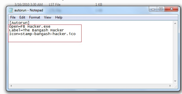 how to write an autorun file