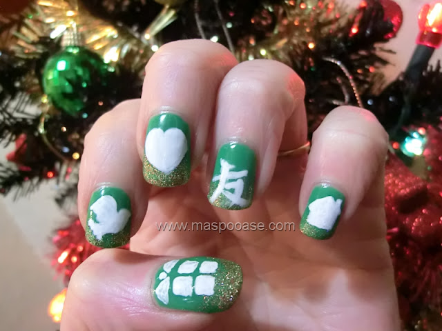 M.A.S.P.O.O.A.S.E. : Christmas Nail Art Challenge - Day 6 - Gifts