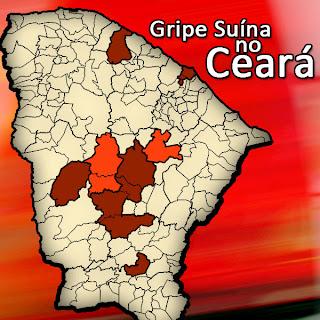 Ceará confirma mais três casos de gripe suína; existe um caso suspeito em Fortaleza