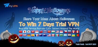 Cadeaux Halloween 2013:FlyVPN 7 jours code d'activation gratuite
