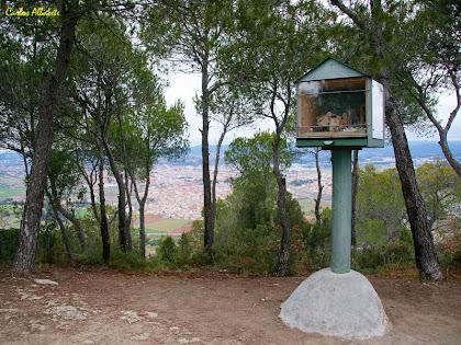 El pessebre de l'any 2012 al cim del Pujol de la Guàrdia. Autor: Carlos Albacete