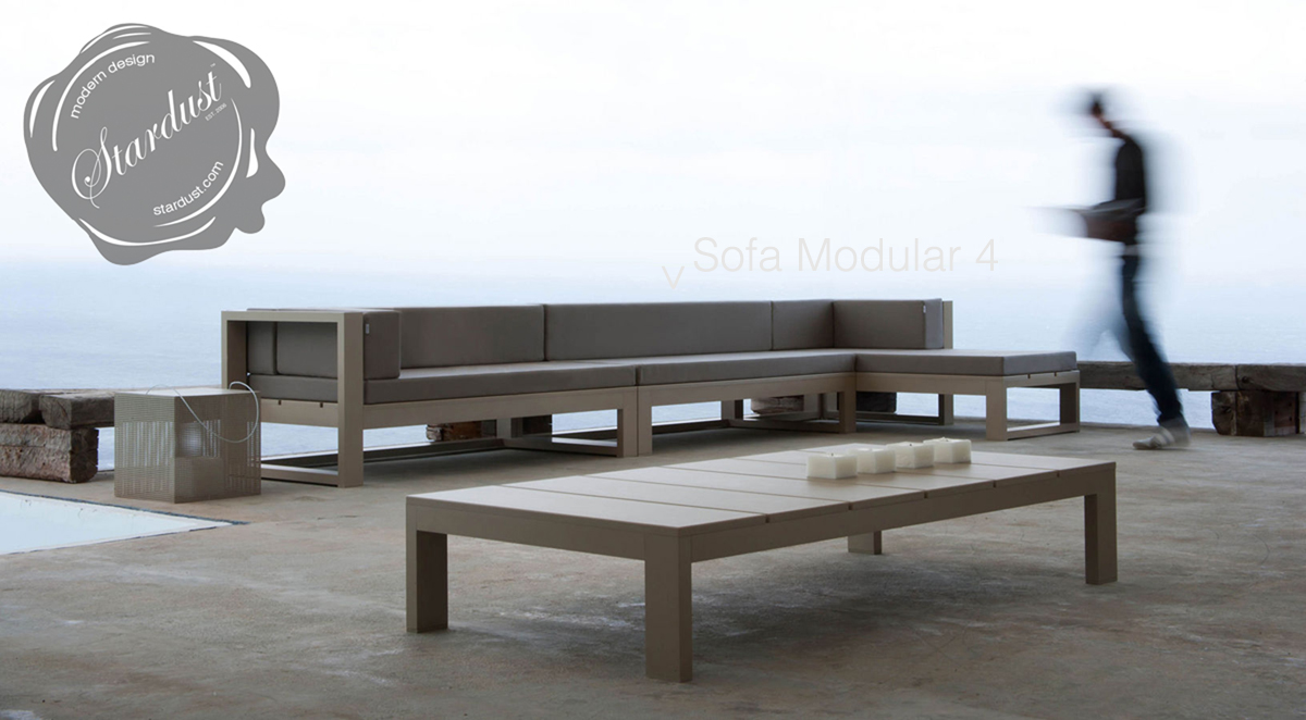 Modern outdoor lounge sofa gandia blasco na xemena sofa for Modern lounge sofa