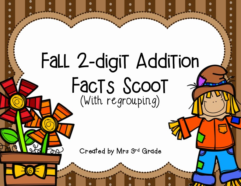 Fall 2-digit Addition with regrouping by Mrs 3rd Grade
