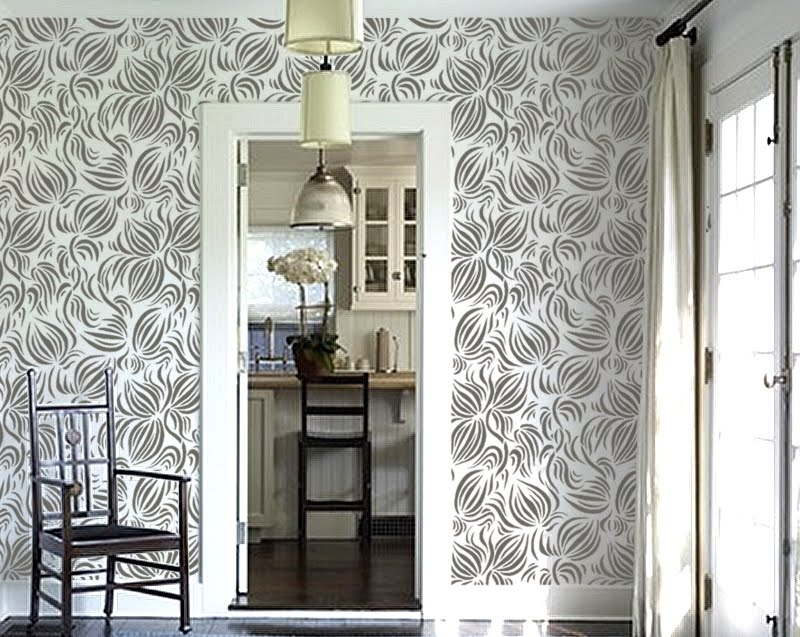 smitten design wallpaper vs stencil