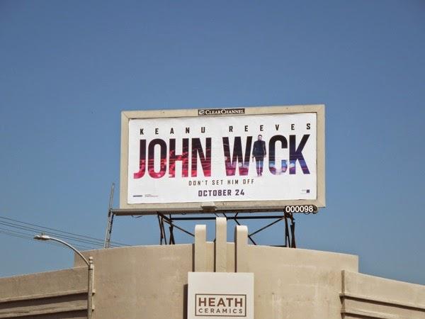 John Wick movie billboard
