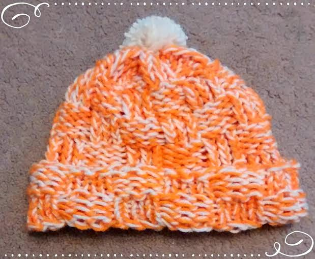 How To Loom Knit A Basket Weave Hat : Easymeworld loom knit a basket weave hat for beginners