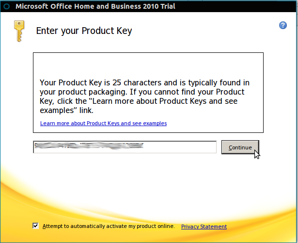 search product key microsoft office 2010