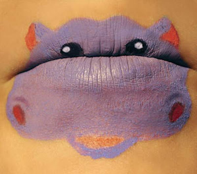 Beautiful And Creative Animal Lipstick Art