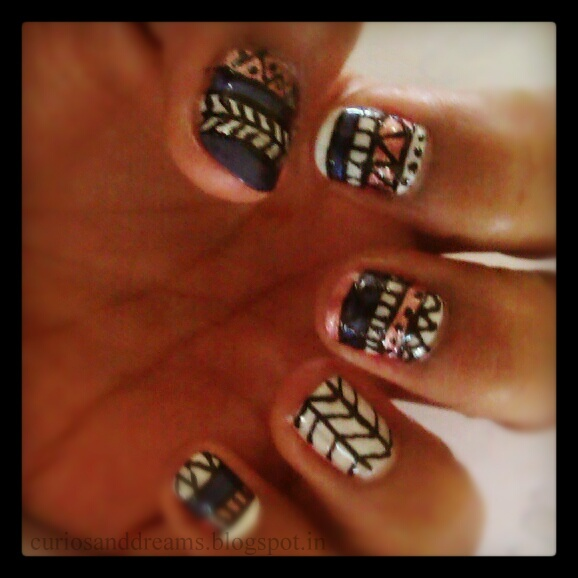Tribal Nail Art design